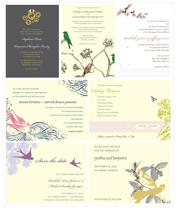 Bird Themed Wedding Stationery