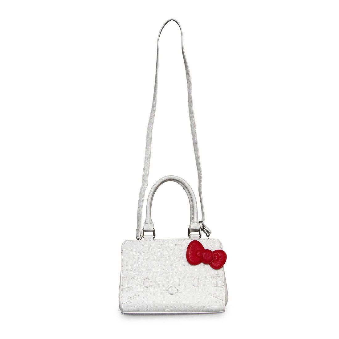 a7276a054380 Hello Kitty White Quilt Walking Stitch Face Bag - Hello Kitty - Brands