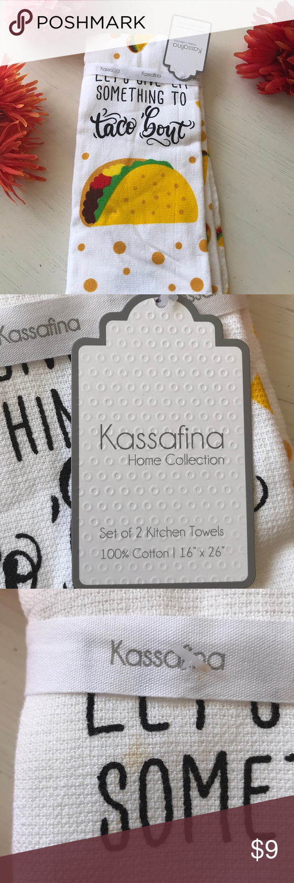 Kassafina Hand towels Set of 2 hand / kitchen towels by Kassafina  See small stain in pic Bath Hand Towels #handtowels