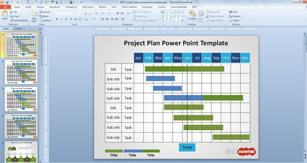 Project Plan PowerPoint Template is a free presentation template - project plan