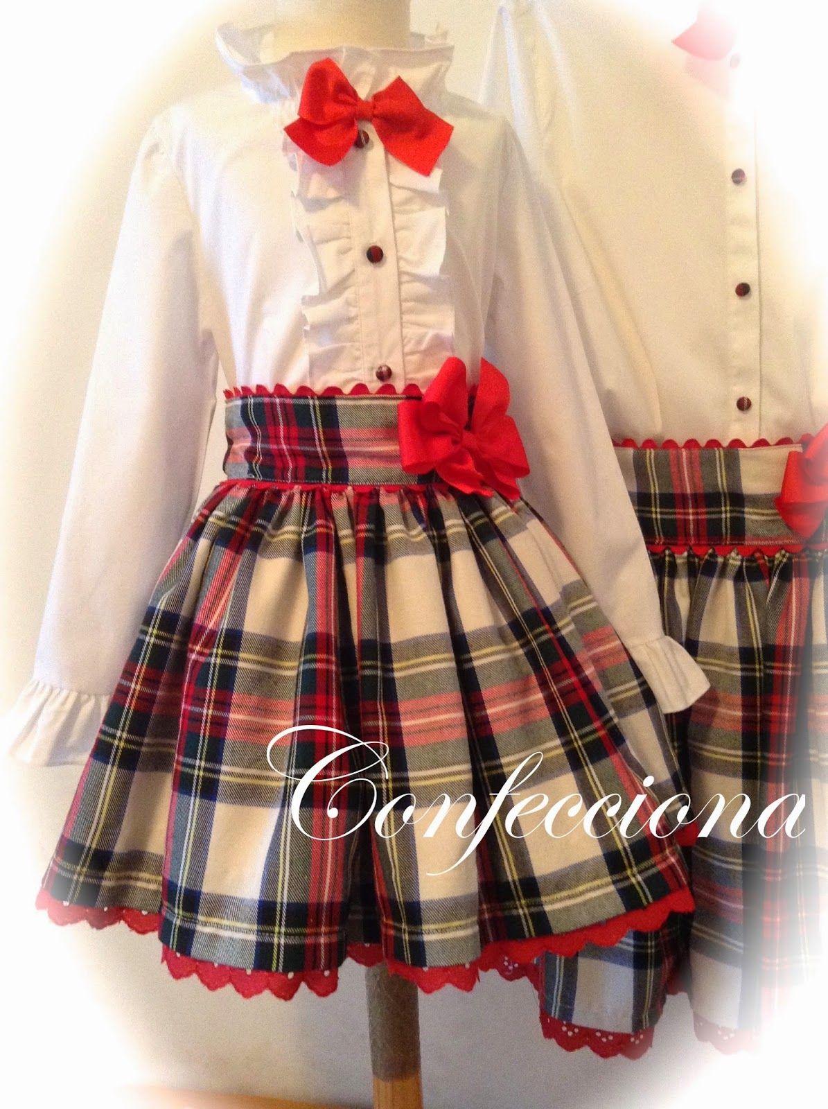 84558b16de753 estilo de falda y blusa para niñas - Buscar con Google