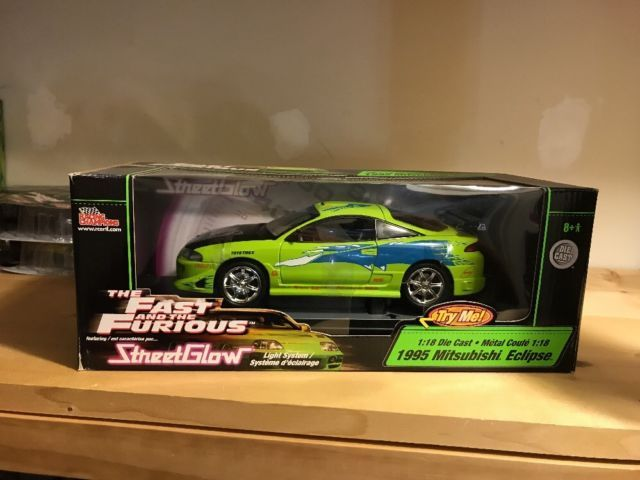 1:18 GreenLight mitsubishi eclipse from the movie Fast /& Furious 1995