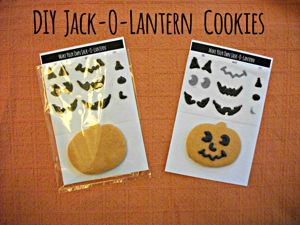 DIY Jack-O-Lantern sugar cookies.  The eyes, mouth, and noses are made from chocolate!!    Before 3 pm - Getting it all done before the kids get home!