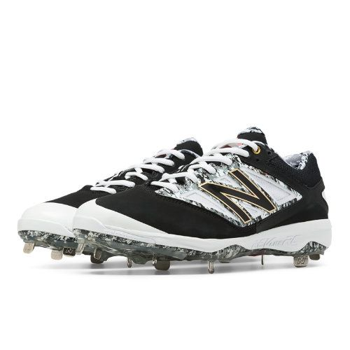 b2af9aad7f8c Pedroia Low-Cut 4040v3 Metal Cleat Men's Low-Cut Cleats Shoes - Black/Grey/ White (L4040PK3)