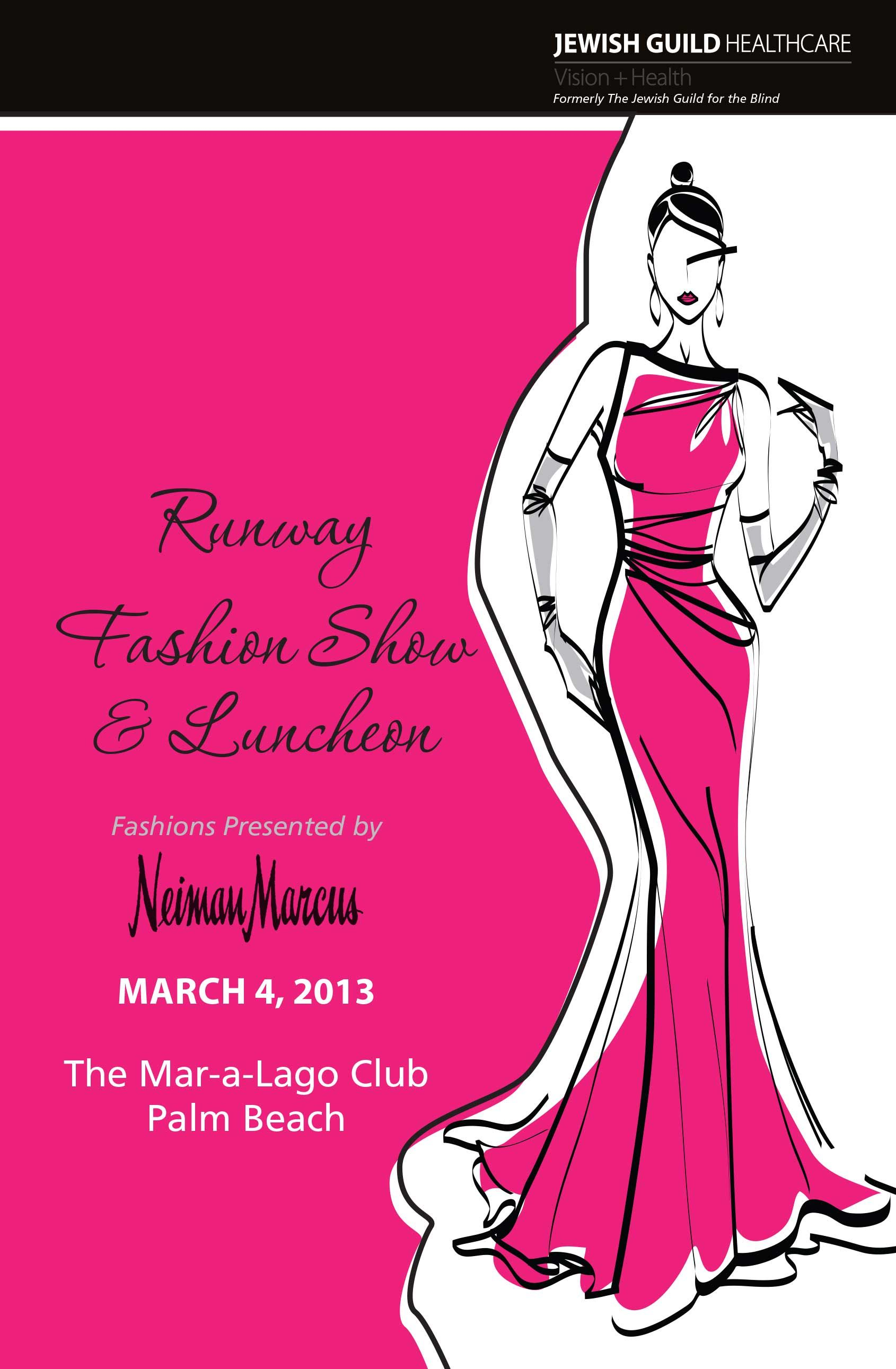 Fashion Show invite jewishguild fashion show charity