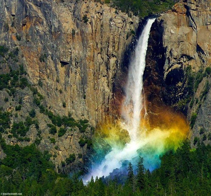 огненный водопад сша фото сравнению