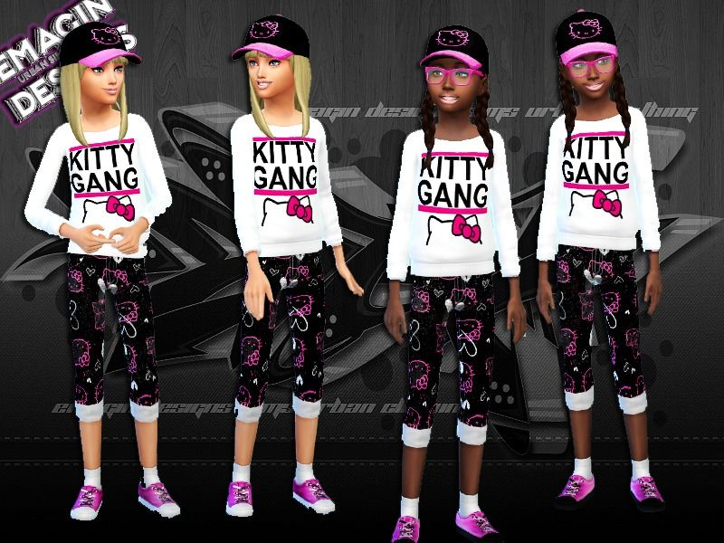 emagin360's Girls Hello Kitty Gang Outfit w/Shoes