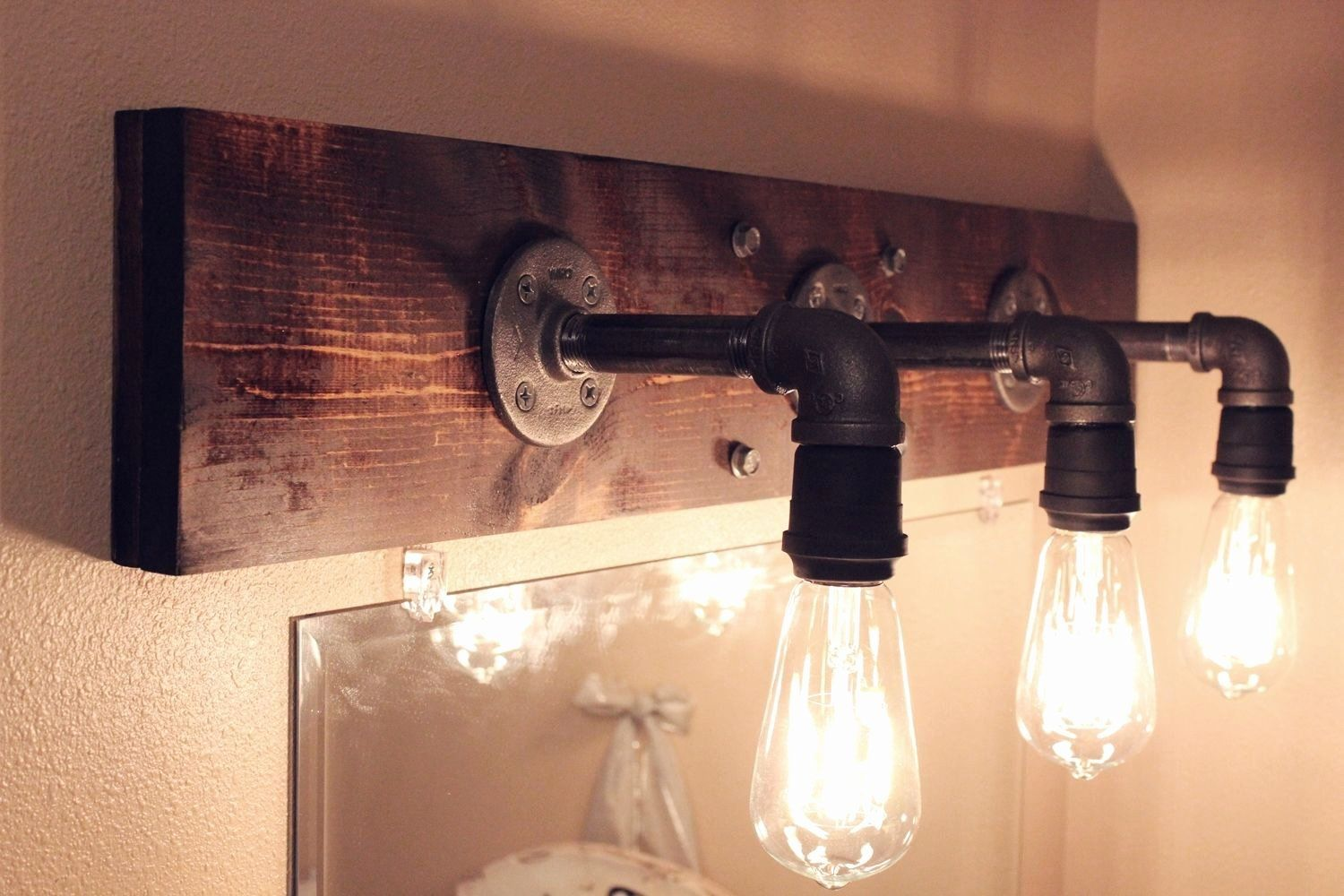 Bedrooms Vanity Lighting Ideas Beautiful Diy Industrial Bathroom Light Fixtures In 2020 Industrial Light Fixtures Bathroom Diy Light Fixtures Industrial Light Fixtures