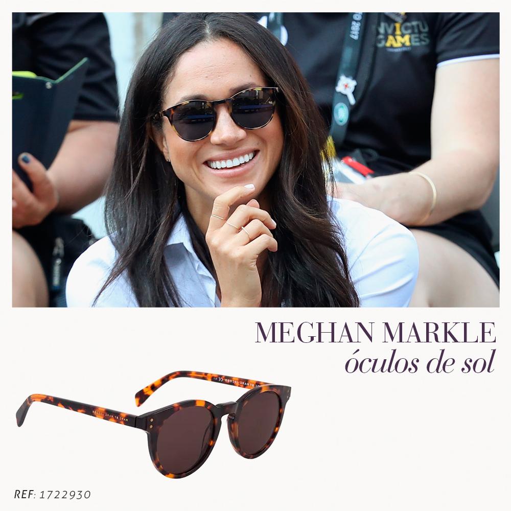 4f6055116 Meghan Markle ficou famosa por interpretar a personagem Rachel na série  Suits. Com seus looks