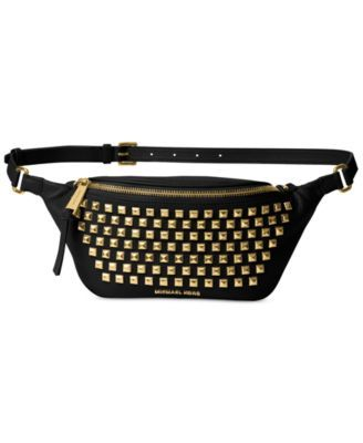 a3d8d57340b7e3 MICHAEL Michael Kors Rhea Zip Pyramid Stud Belt Bag $89.10 Add some chic  edge to your look with MICHAEL Michael Kors' fabulous studded leather belt  bag, ...