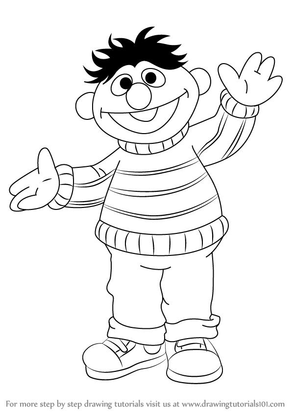 Learn How To Draw Ernie From Sesame Street Sesame Street