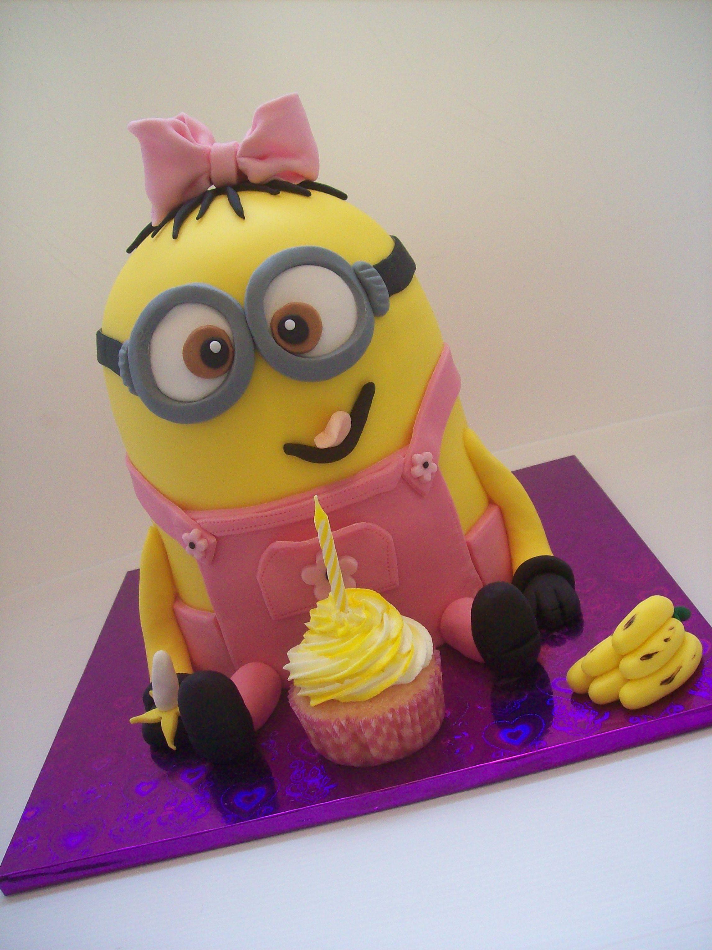 Girl Minion Cake 295 Temptation Cakes Temptation Cakes Party
