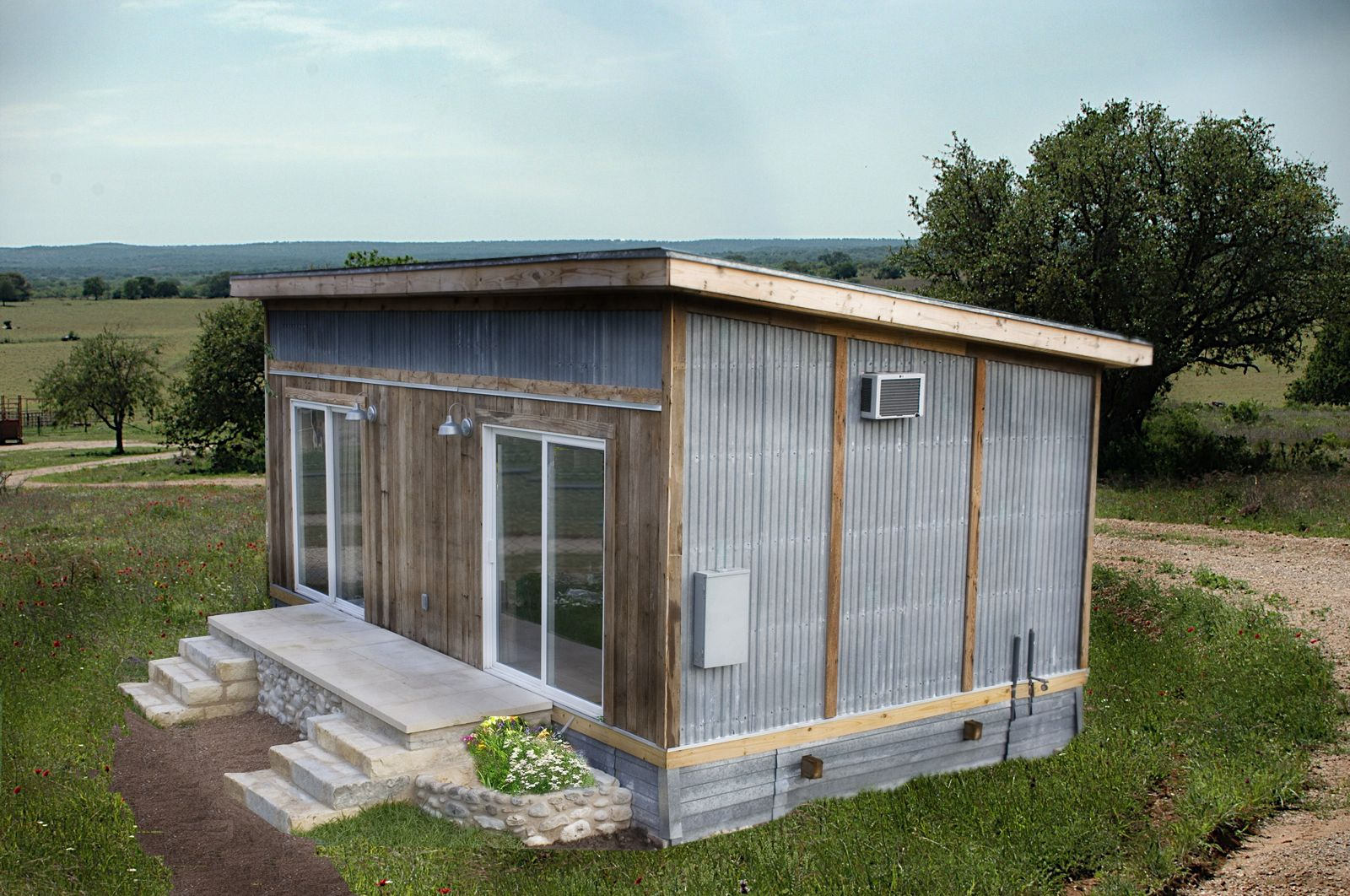 Single pitch roof house each unit is custom built using locally sourced materials taken from i love corrugated metal d