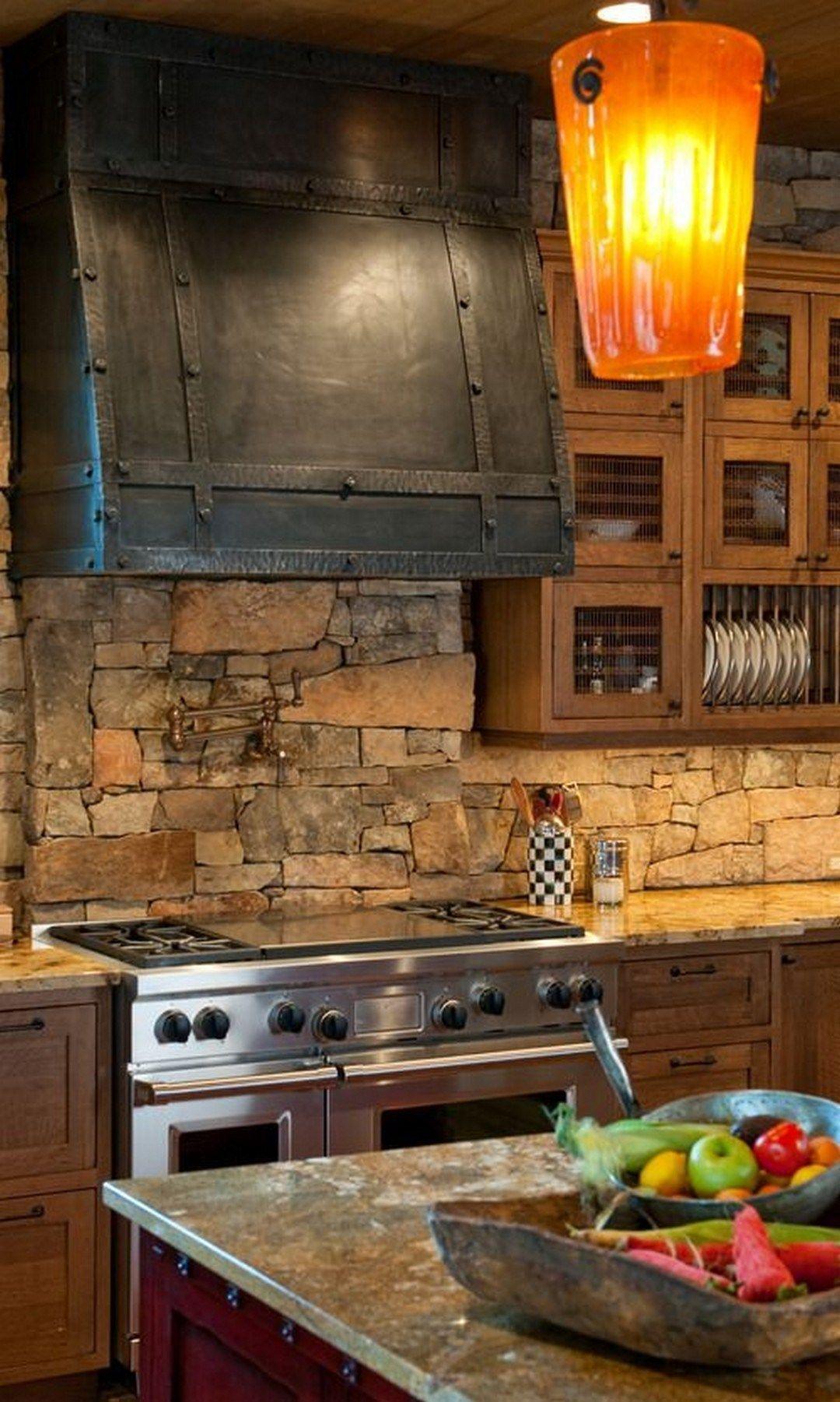 Creative Stone Kitchen Backsplash Ideas Stone Kitchen Home