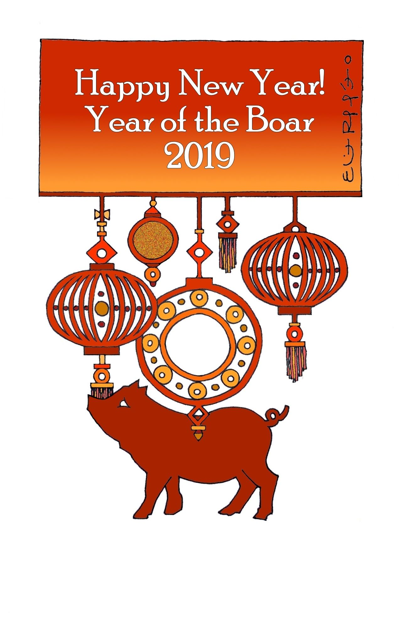 Happy Chinese New Year! The Year of the Boar! Eliot Raffít