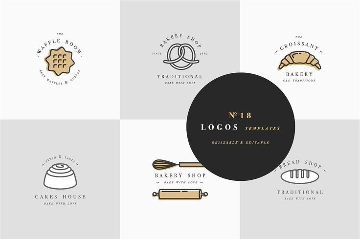 Bakery Logos by oxygen_8 on @creativemarket #logo #brand