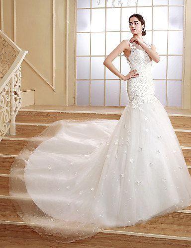 Zeemeermin Trouwjurk Trompet Wedding Dresses Trouwjurk