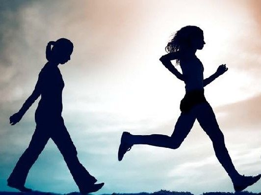 walk or run to get fit | Fitness facts, Running vs walking, Exercise