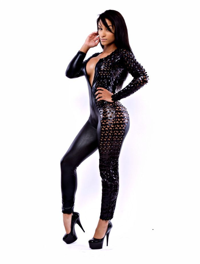 The Harlequin Xtreme Jumpsuit (Black Leather) | Jumpsuits ...