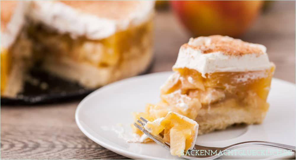 Apfel Sahne Torte Mit Pudding Rezept Apfelkuchen Rezept Apfelkuchen Und Bester Apfelkuchen