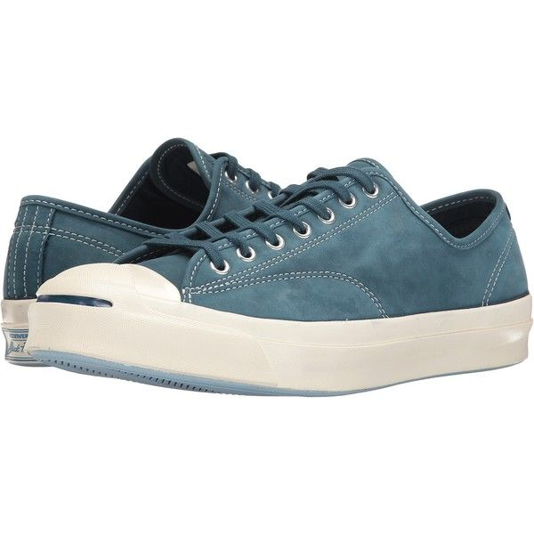 Converse Jack Purcell Signature Ox (Blue Fir Egret Egret) Shoes (799.365  IDR) ❤ liked on Polyvore featuring shoes cd558a89c