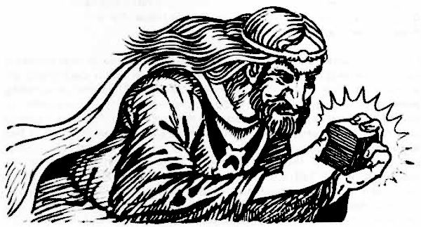 Another AD&D Player's Handbook sketch, of a greedy man
