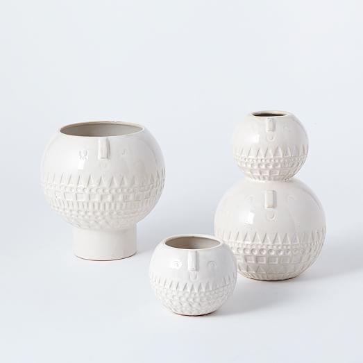 Atelier Stella Vases | West Elm. White not blue.