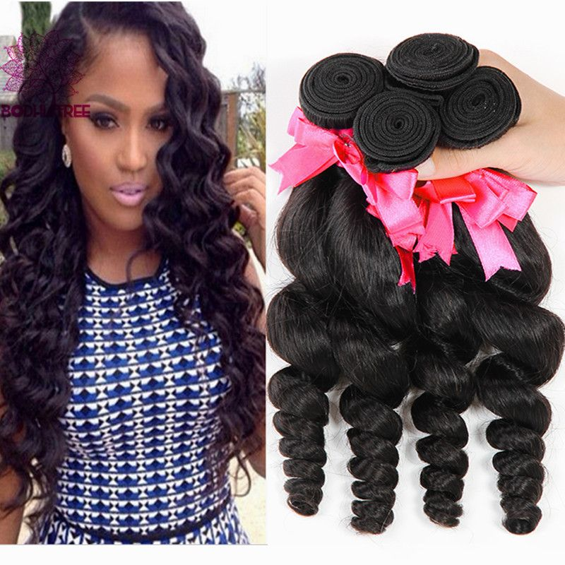 $53.00 (Buy here: http://appdeal.ru/8ijs ) Indian Virgin Hair Loose Wave 3Pcs Lot Rosa Hair Products Grade 6A Unprocessed Indian Loose Wave Cheap Human Hair Color 1b for just $53.00