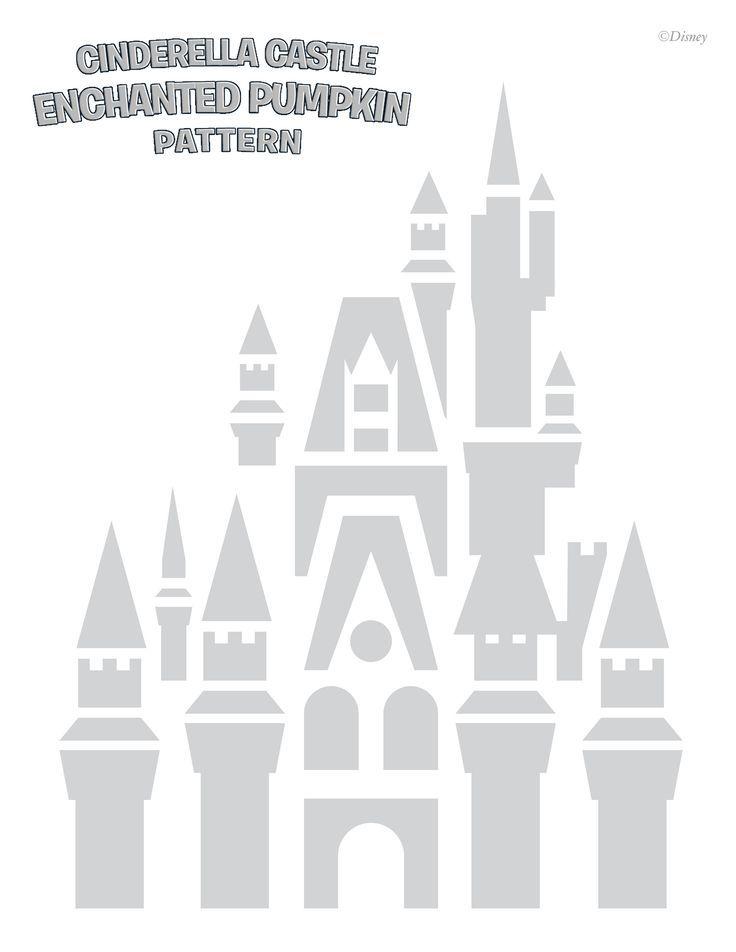 Disney - Cinderella Castle Free Halloween pumpkin carving stencil ...