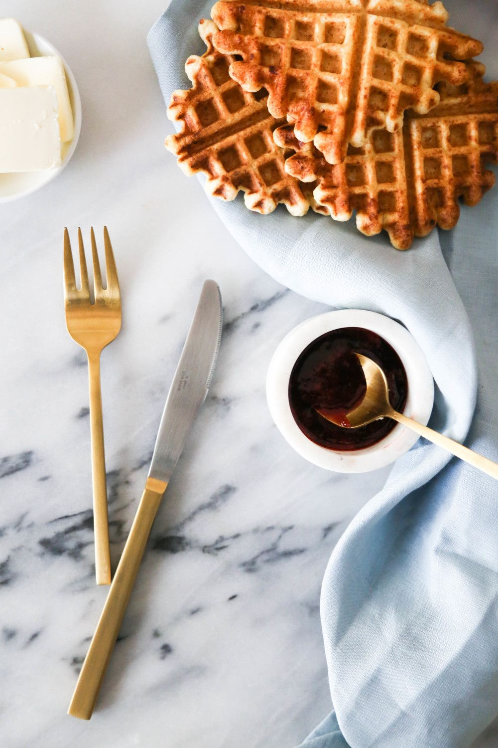 Whip It Up: Ricotta Waffles with Vanilla Strawberry Sauce