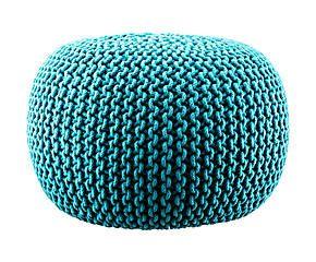 Lob Design Pouf.Lob Design Gebreide Poef Stickadpuff Turquoise Turquoise