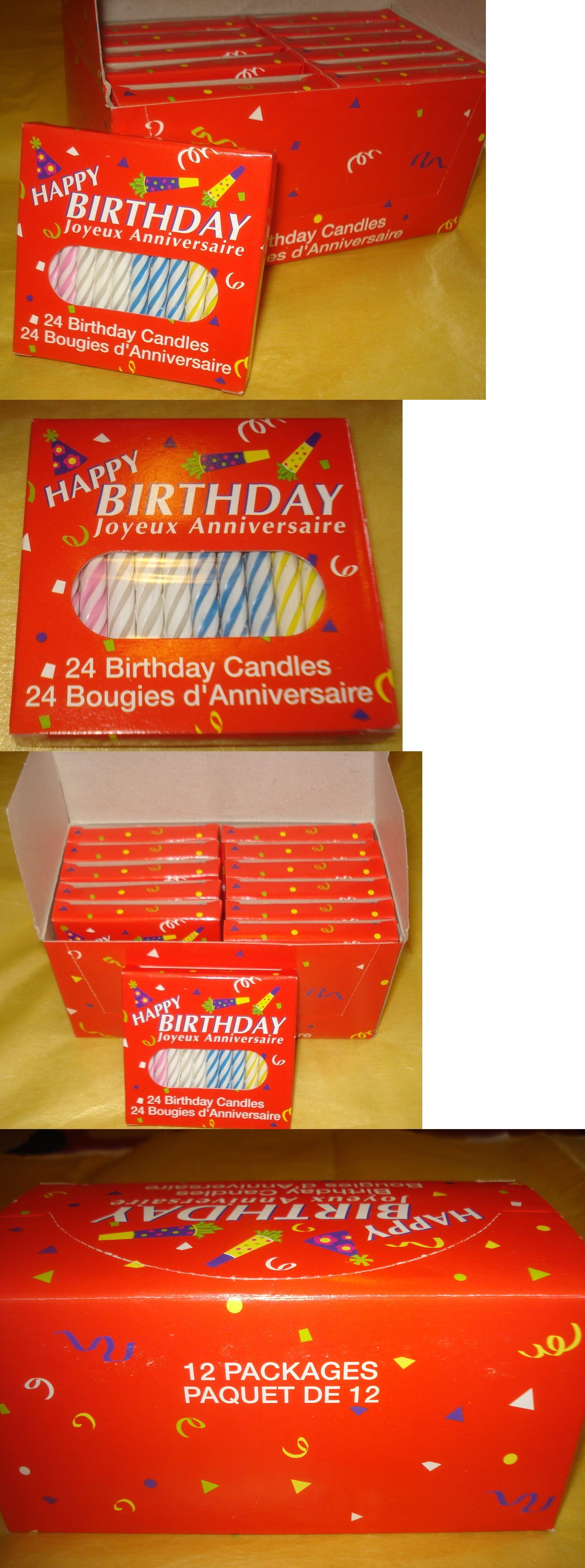 Candles 183342 Box Of 12 Packs Spiral Birthday 24 Each Pack BUY IT NOW ONLY On EBay