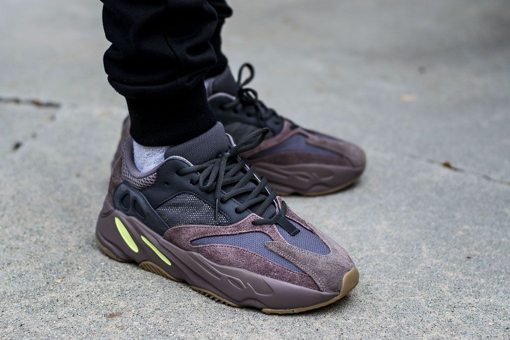 Adidas Yeezy Boost 700 Mauve On Feet Sneaker Review  63c6ed8a6c5ee