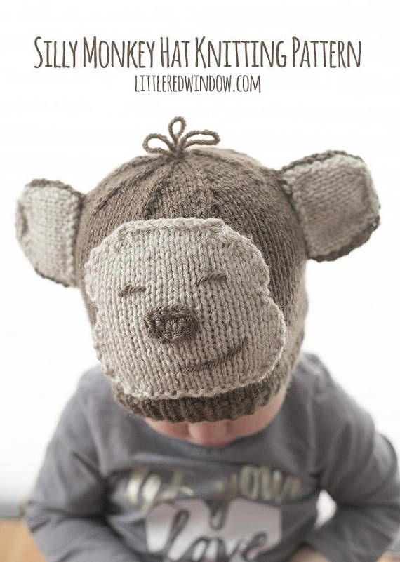 This Monkey Hat Knitting Pattern Is One Of The Cutest Baby Animal