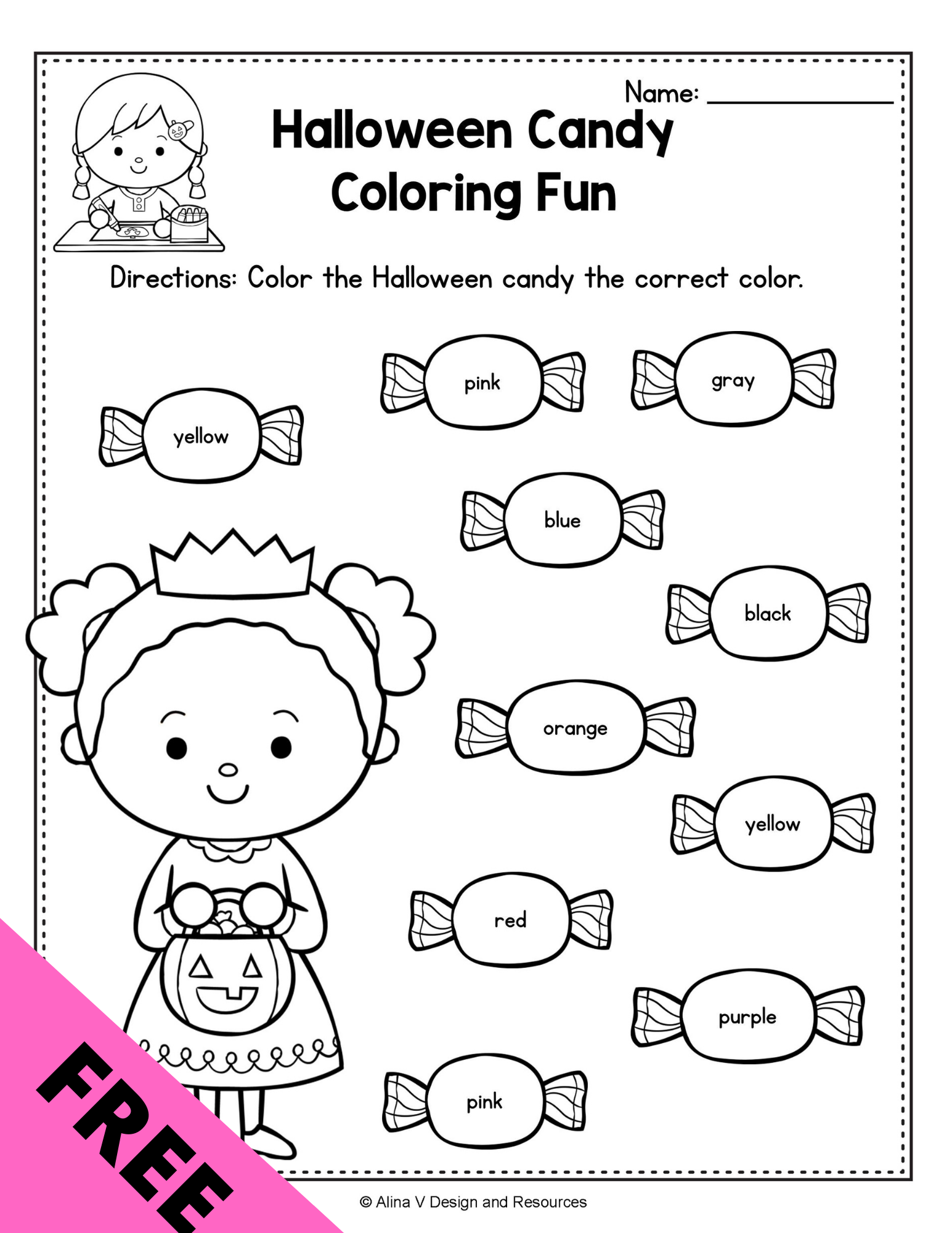 Free Halloween Coloring Page Activities For Preschoolers Halloween Preschool Halloween Activities Preschool Halloween Math Worksheets [ 2000 x 1545 Pixel ]