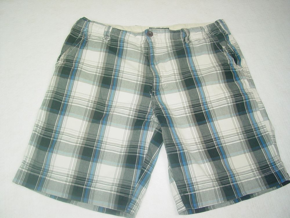 79efe64f84 Plugg Co. Men's Shorts Blue Black Plaid Shorts Size 38 Used Good Condition # Plugg #CasualShorts