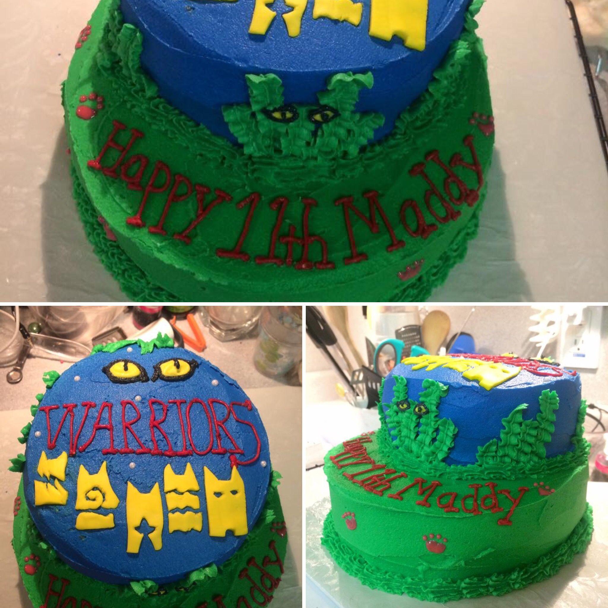 Warrior Cats Birthday Cake Chocolate Cake With Vanilla Buttercream