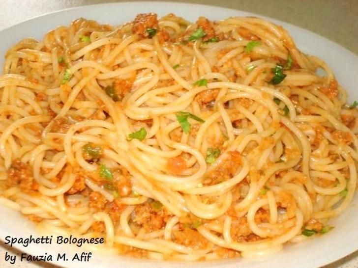 Spaghetti Bolognese | Fauzias Kitchen Fun | Pasta, Pizza & Pies ...