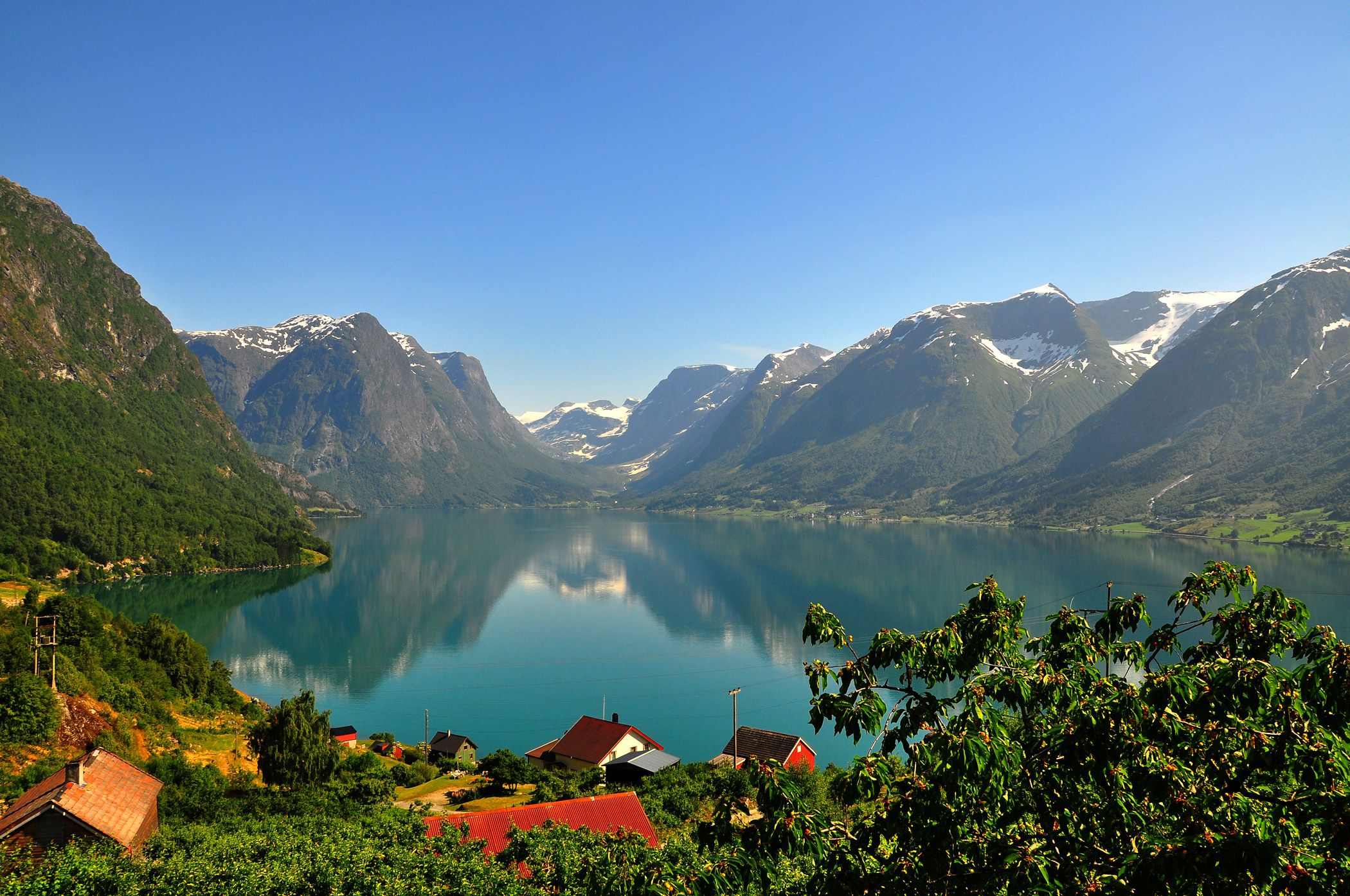 The fruit farms of Flo, Nordfjord, Norway - #landscape #photography #norway Photo credit: stigkk on Flickr