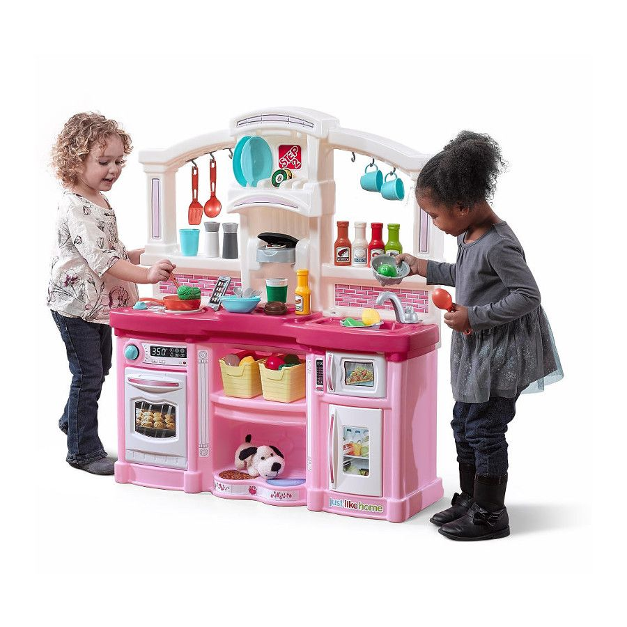 Just Like Home Fun With Friends Kitchen Playset Pink Toys R Us