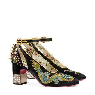 dragon satin midheel pump  heels mid heels pumps shoes