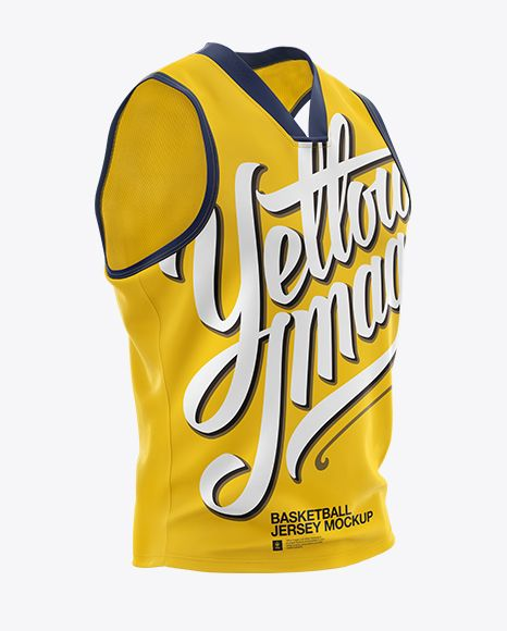 Download Basketball Jersey With V Neck Mockup Half Side View Present Your Design On This Mockup Simple To Change The Color Basketball Jersey Clothing Mockup Mockup