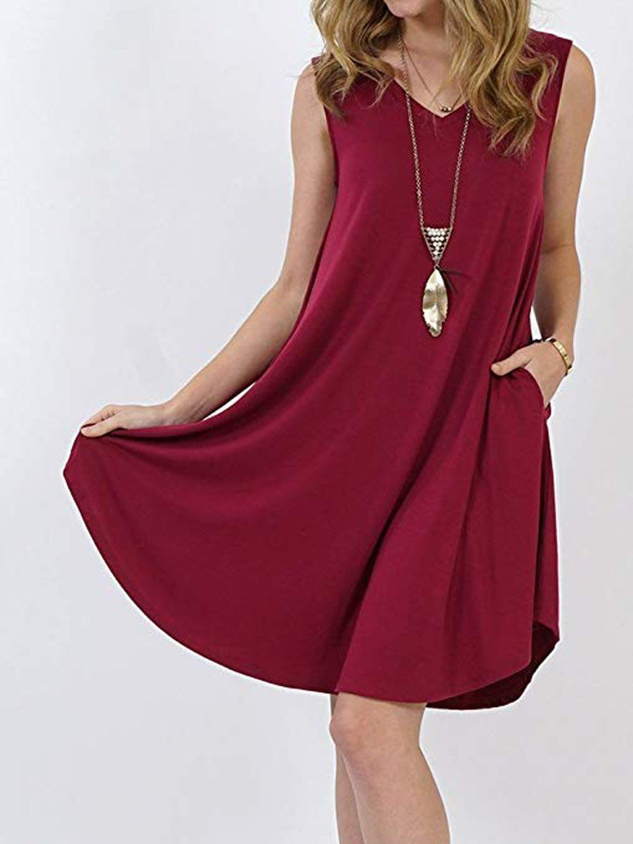 Round Neck Plain Shift Dresses Outfit Enjoy Free Shipping 59 Easy Return Up To 80 Off Don T Miss Firs Shift Dress Shift Dress Casual Shift Dress Outfit [ 1200 x 900 Pixel ]
