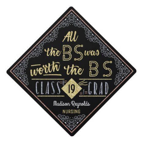 College Graduation Bachelors Degree Funny BS Name Graduation Cap Topper | Zazzle.com
