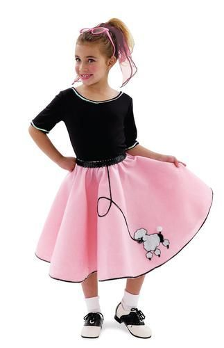 fd01fdd9ad03 She can rock all night in this Poodle Skirt! She'll be the envy of the  party! Includes: Top, Skirt. Available in Child Sizes: X-Small (4), Small  (6), ...