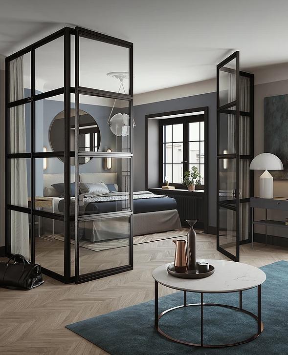 Small apartment with a Boutique Hotel feel - via Coco Lapine Design blog.  Interior ...