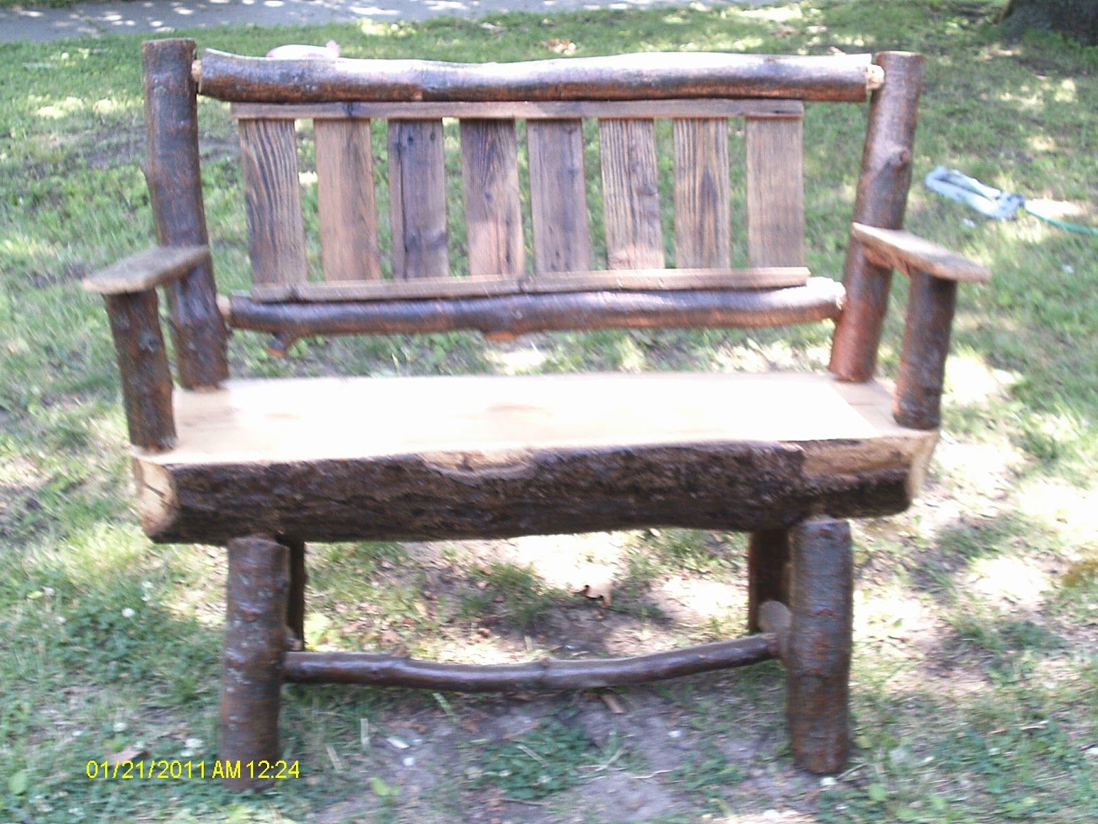 Handmade Rustic Log Furniture Oak Log Bench And Coffee Table Diy Patio Furniture Rustic Log Furniture Log Furniture
