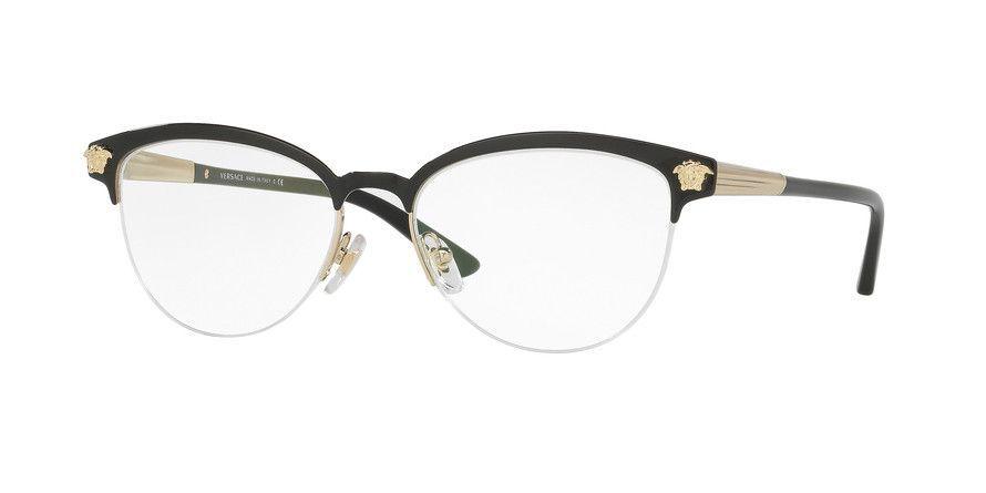 3ccf68dcda1 VERSACE Eyeglasses VE 1235 1376 Red  Gold 53MM