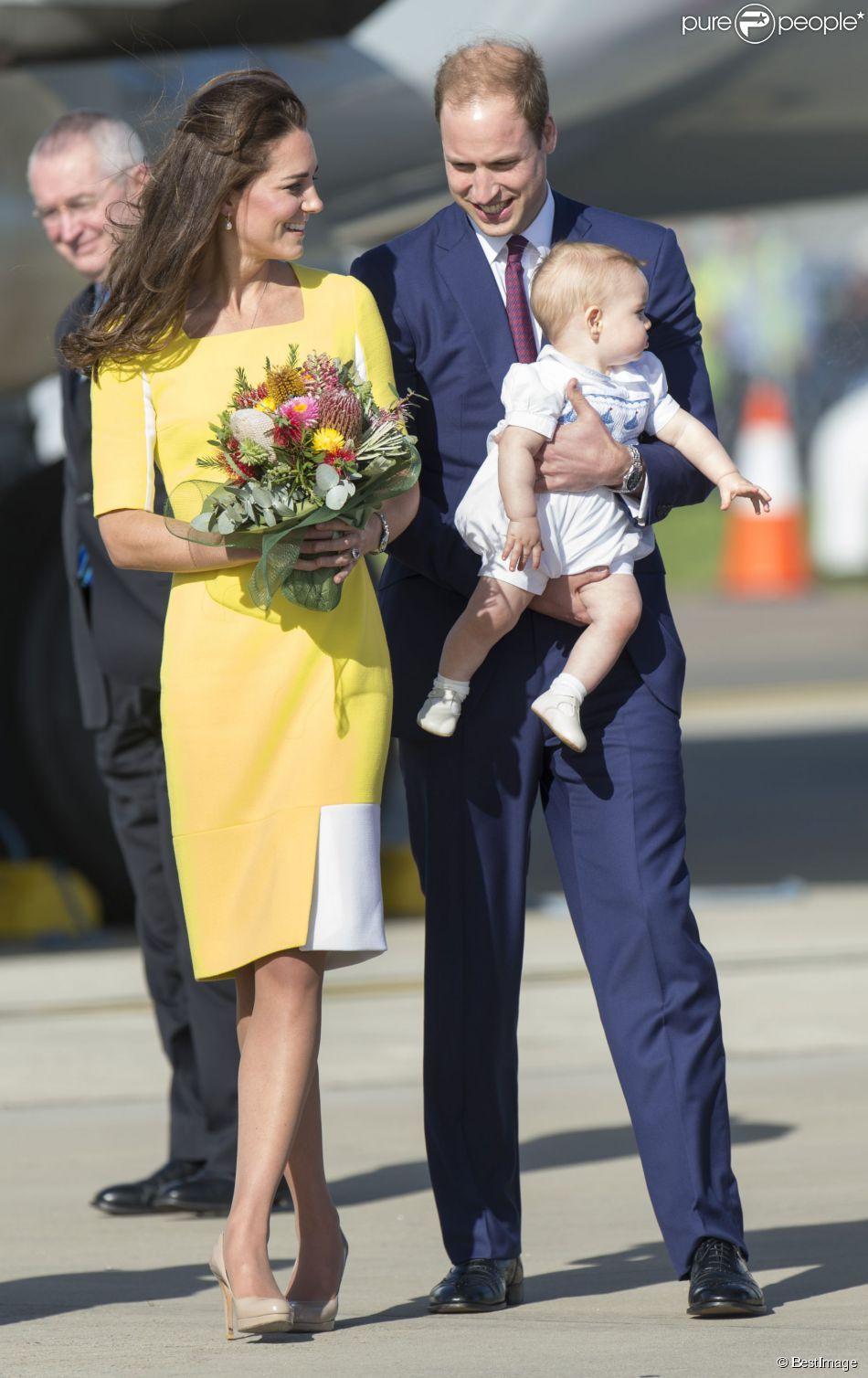 princesse Kate, prince William avec le prince en
