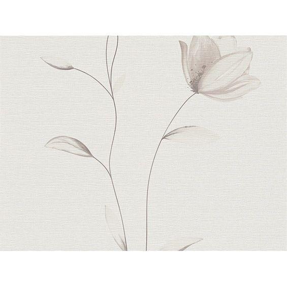 A.S. Creation Vliestapete Fioretto 2 Blume Beige